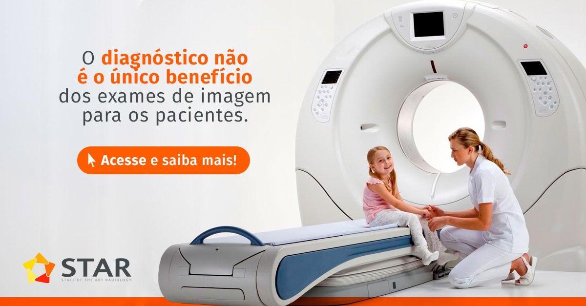 O diagnóstico não é o único benefício dos exames de imagem para os pacientes